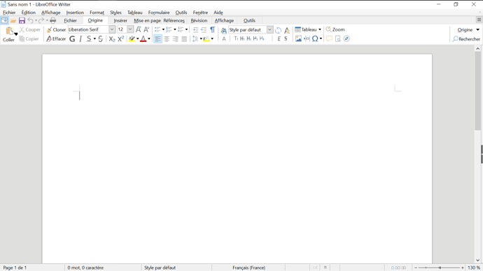 LibreOffice 6.3 avec DPI 150%