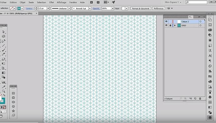 exemple de grille isométrique sous illustrator