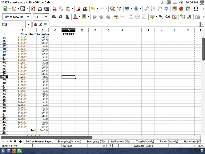dotted lines in a spreadsheet