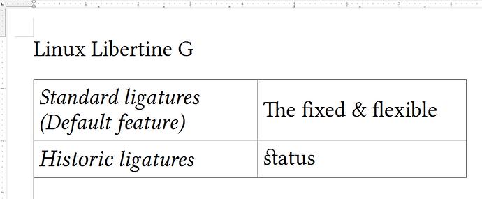 screenshot ligatures