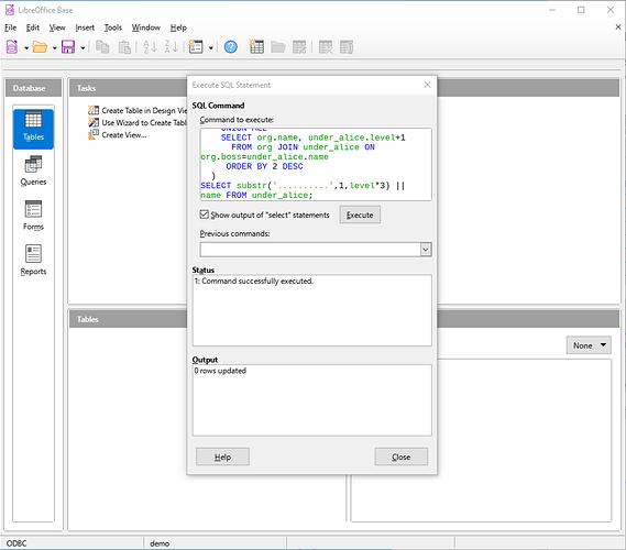 Base-Recursive-tools-sql