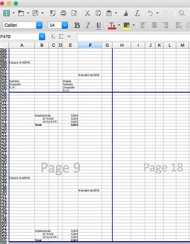 Última página mostrando el descuadre por la parte inferior