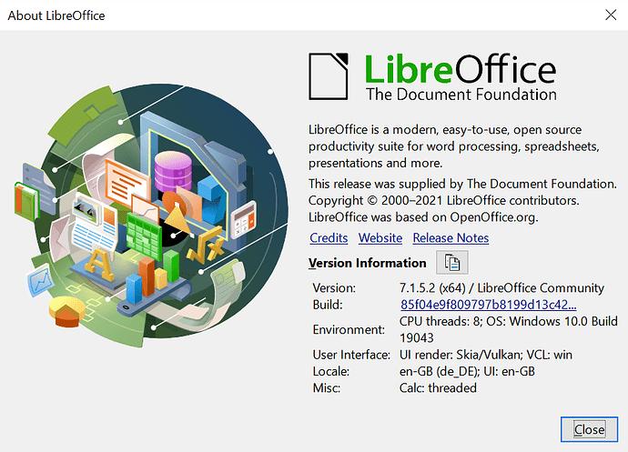 LO Get version information