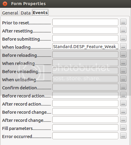 There are many options for attaching the loading code to the form