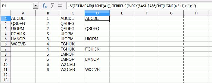 copie ecran des formules décrites après
