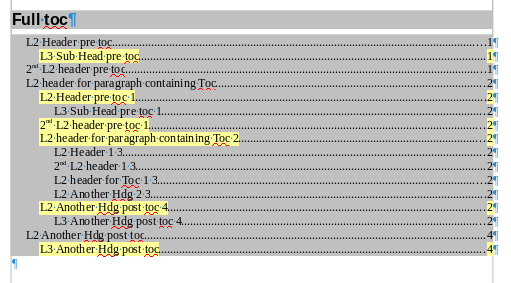 This Full ToC also indexes from within