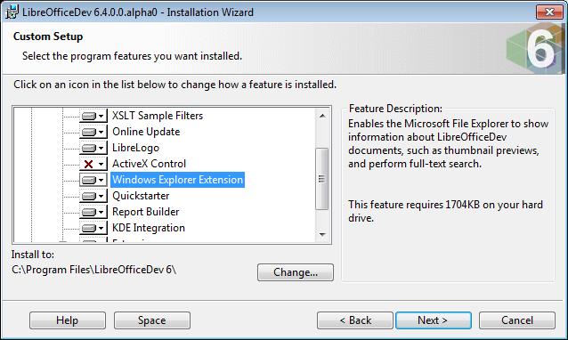 Thunbnail option in installer