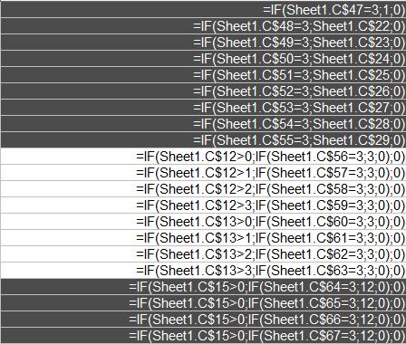 When C47-67 are 3
