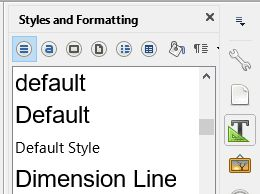 three styles named default