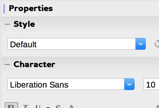 libreoffice fonts