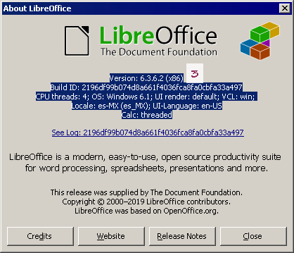 About LibreOffice