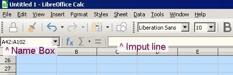 Name Box and Imput line
