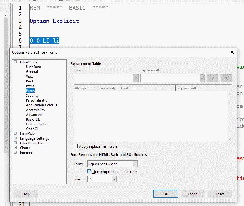 DejaVu for Basic IDE