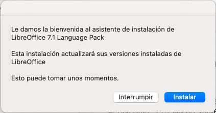 Inicio de instalación de Interfaz de Usuario