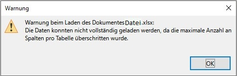 LibreOffice-Warnung